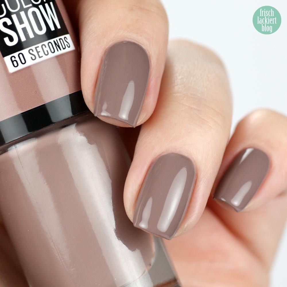 Maybelline 150 Mauve Kiss – swatch by frischlackiert | Nails | Pinterest