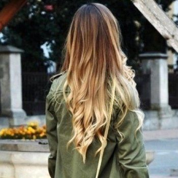 Cool 100 Peruvian Straight To Wavy Ombre Hair Extensions Dark Brown Hairstyle Inspiration Daily Dogsangcom
