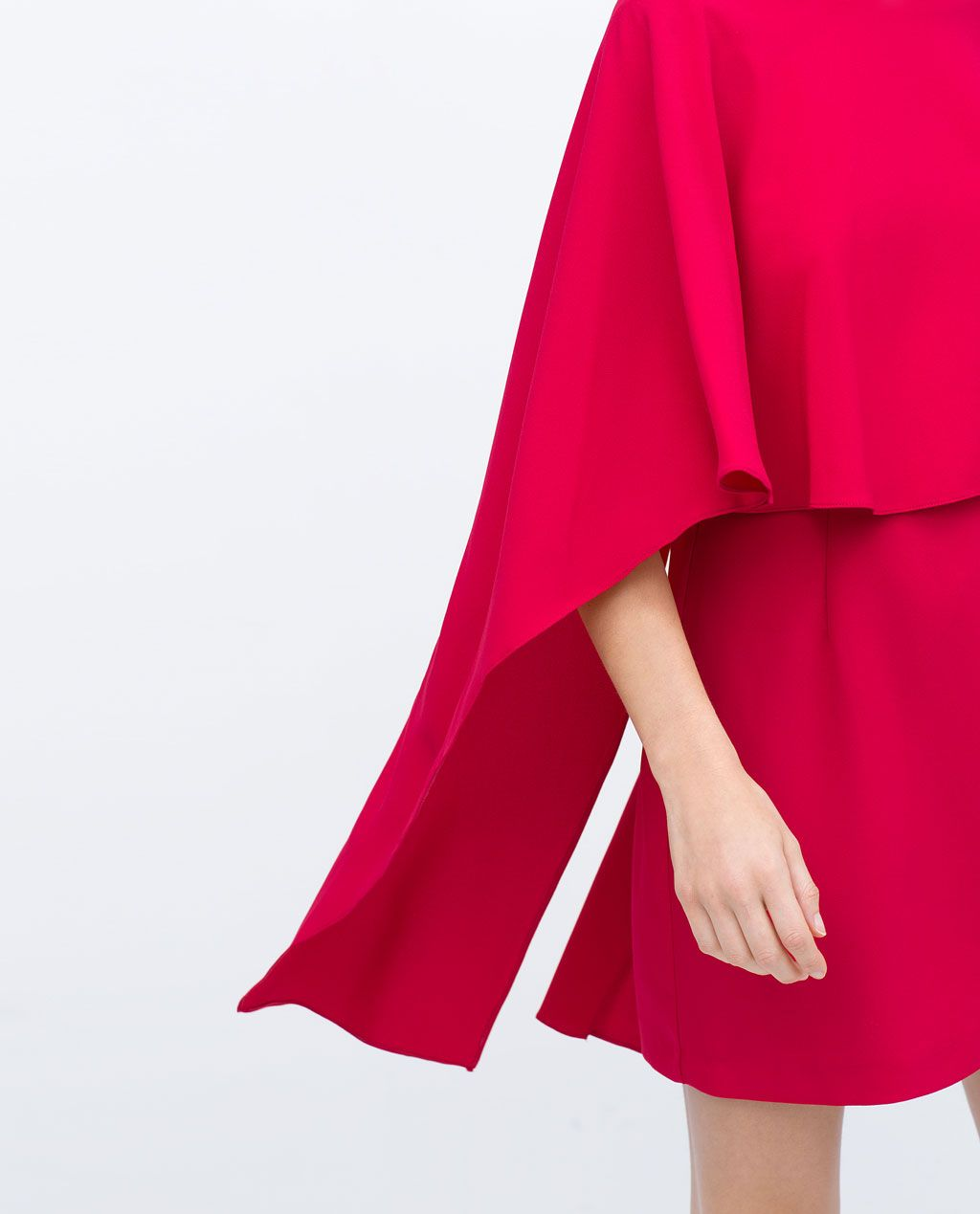 Fuchsia cape dress with low back from zara fashon pinterest