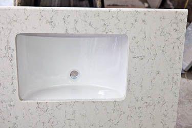 Superieur HanStone Quartz Aspen Bathroom Vanity Top With White Sink