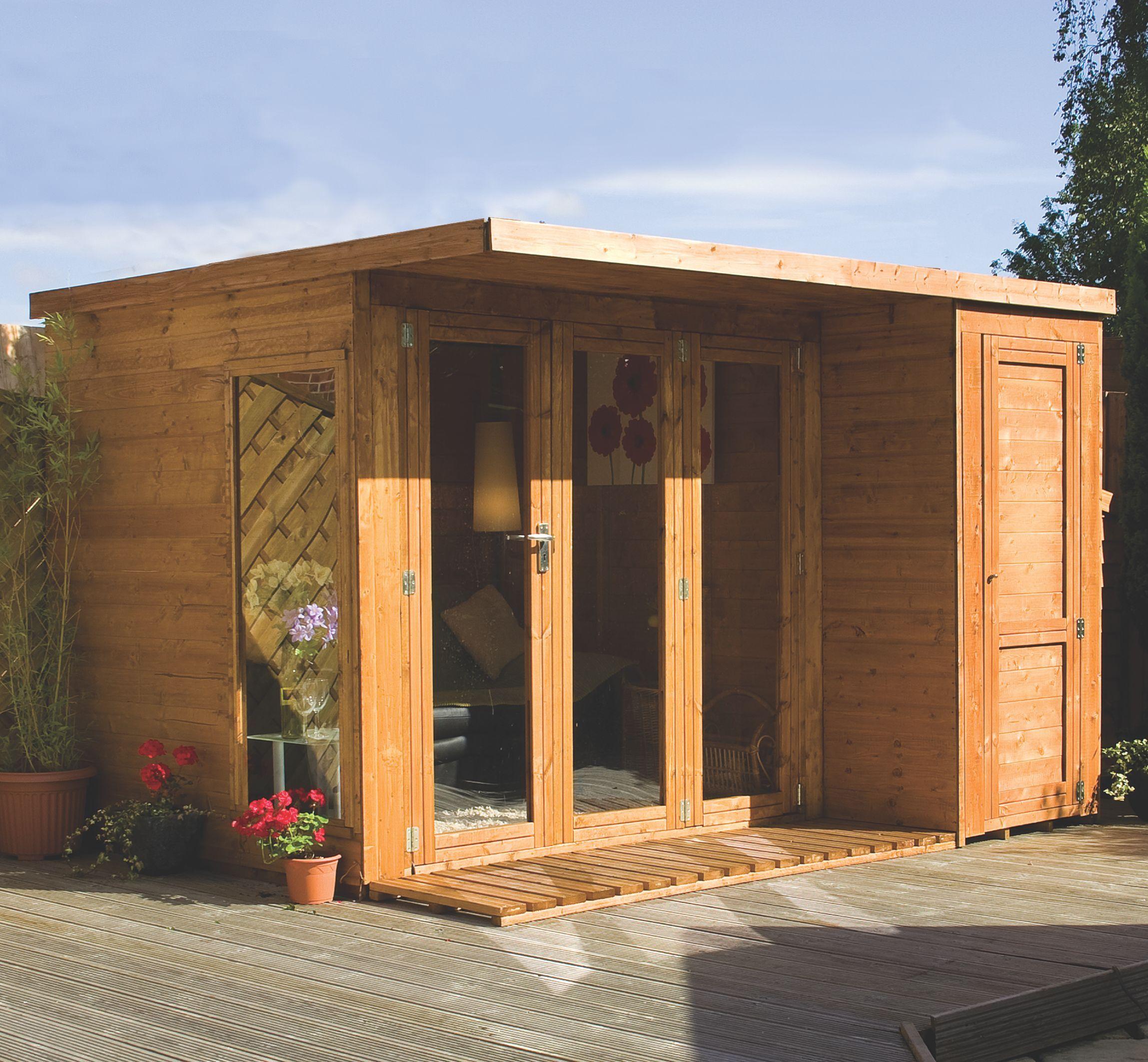 10x8 combi garden room shiplap timber summerhouse store