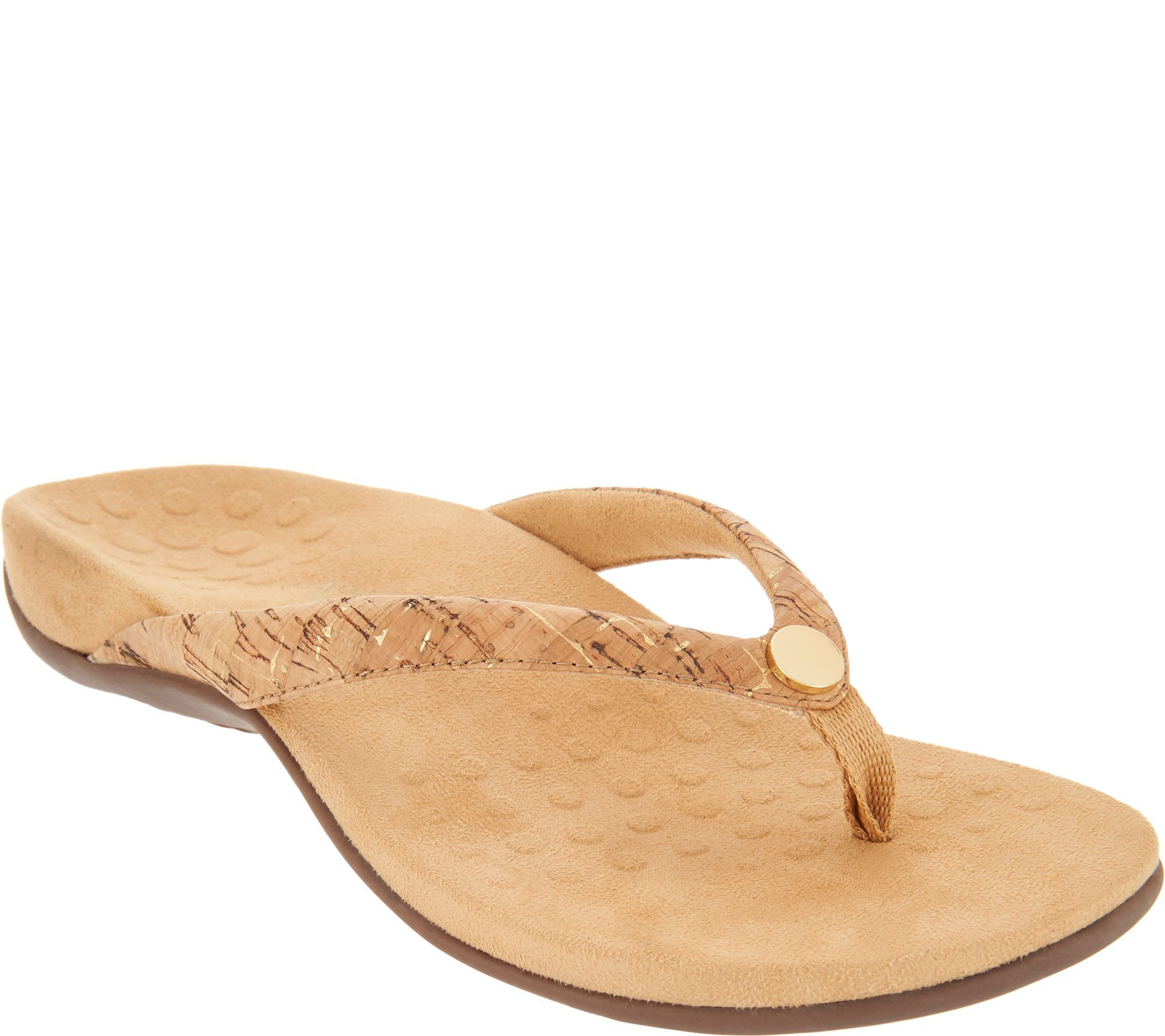 7f65257e6be Step out in summery style without sacrificing support in these podiatrist  designed thong sandals with jpg