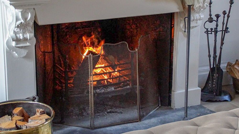 For sale at https://www.firebacks.net Fireplace screen ...