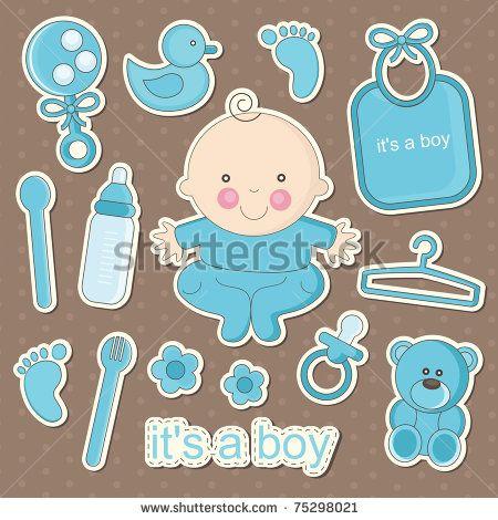 Baby (158 206) | Scrapbook de bebé, Decoraciones de fiestas