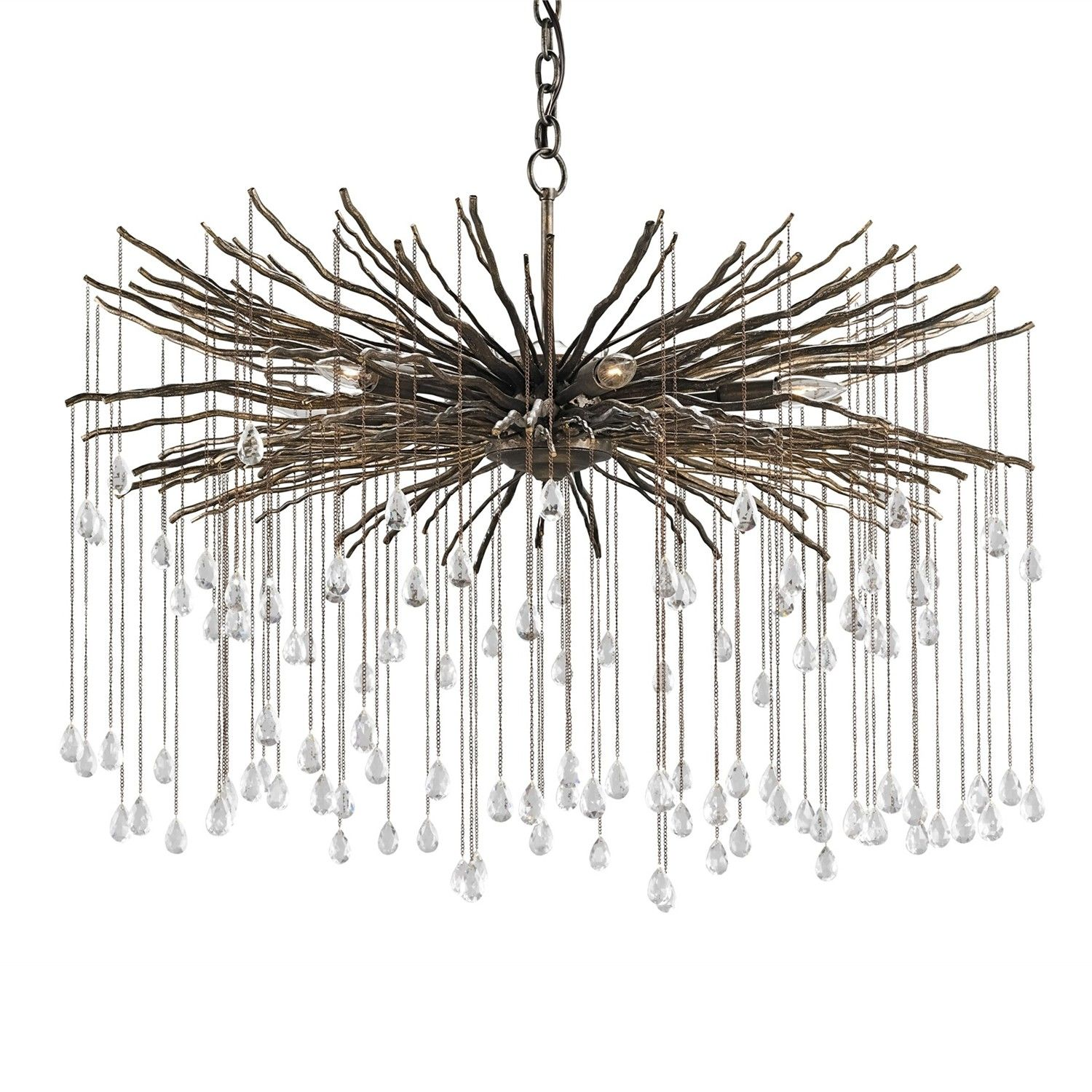 Currey And Company Fen Chandelier Candelabra Inc Twig Chandelier Crystal Ceiling Lamps Small Chandelier