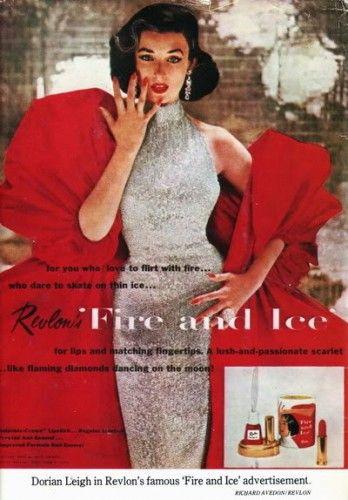 Revlon fire + ice Dorian Leigh | vintage ads / advertising ...