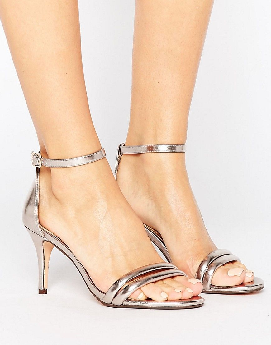 08b638d6a Head Over Heels By Dune Mimosa Rose Gold Heeled Sandals
