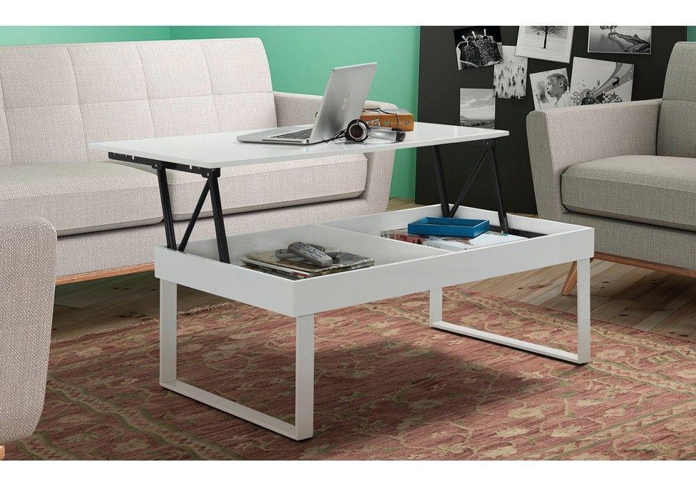Mesa de centro elevable - ibiza blanco 110x60cm | Pinterest | Ibiza ...