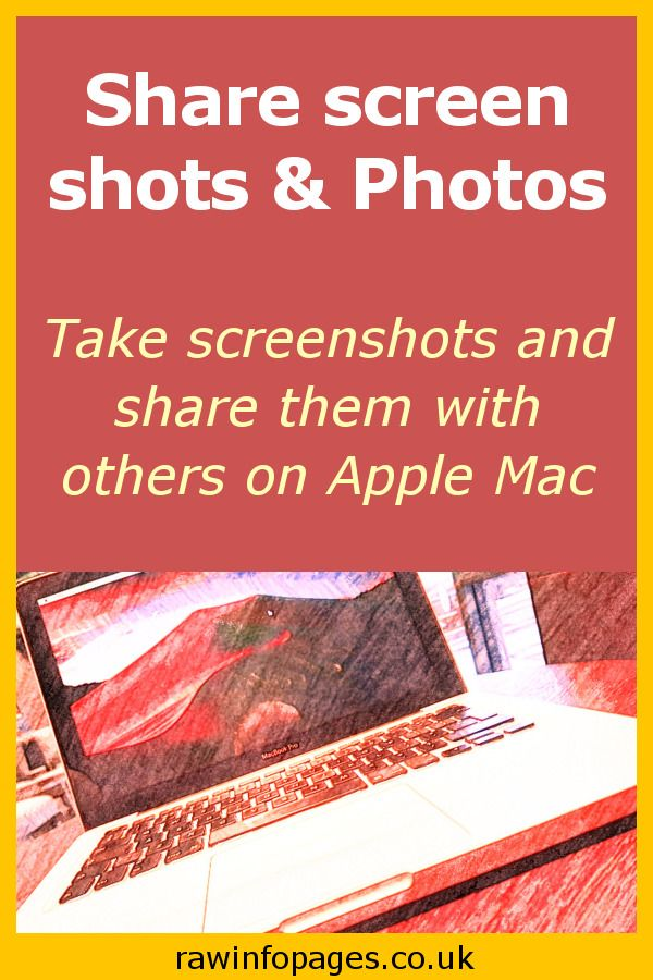 How to share screenshots and files with others using