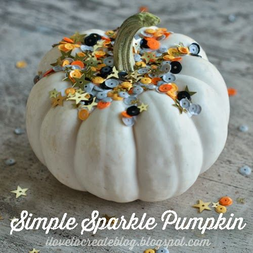 Spotted: Simple sparkle pumpkin from @Penny Harrington Create using our @Target exclusive Halloween sequins #halloween #craft