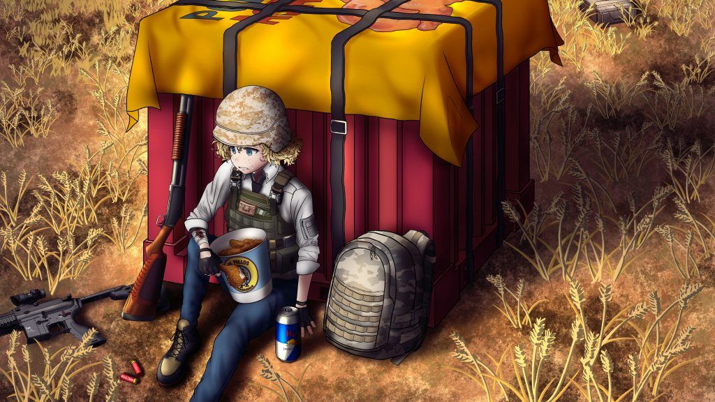 PUBG Airdrop Cartoon Wallpapers|PUBG Anime|PUBG Mobile Wallpapers