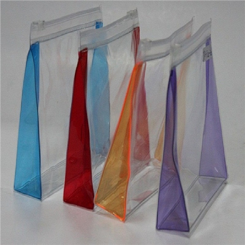 wholesale transparent pvc vinyl zip lock bags customized