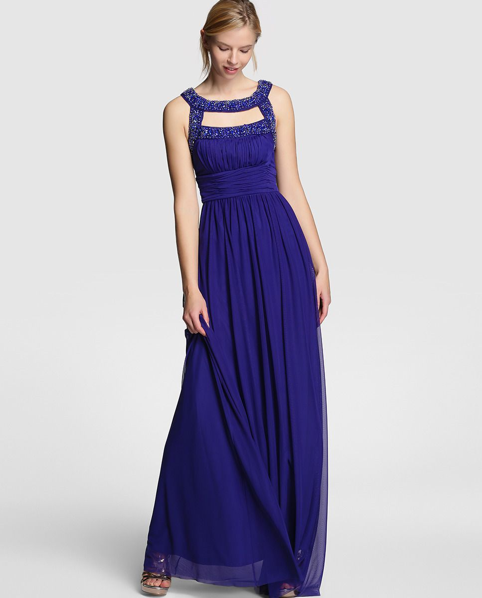 Vestido largo de mujer Easy Wear en color azul klein | vestidos y ...