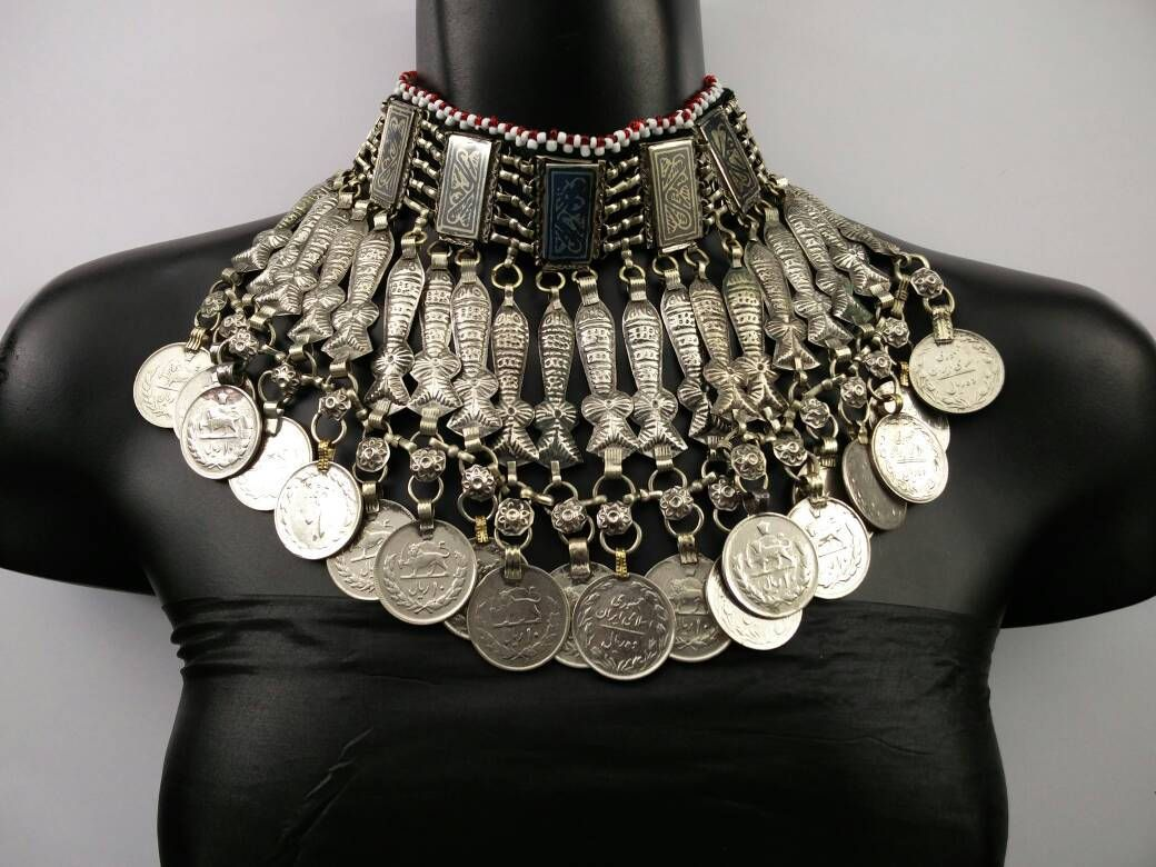 Kuchi Jewelry Handmade Necklace Afghan Ethnic Jewelry Afghan Pendant Necklace With Bells