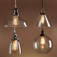 Chandelier vintage industrial retro clear glass chrome brass pendant chandelier vintage industrial retro clear glass chrome brass pendant lamp light mozeypictures Gallery