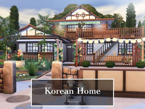 La Maison Coreenne Des Pralinesims Sims 4 Maison Plan Maison Maison