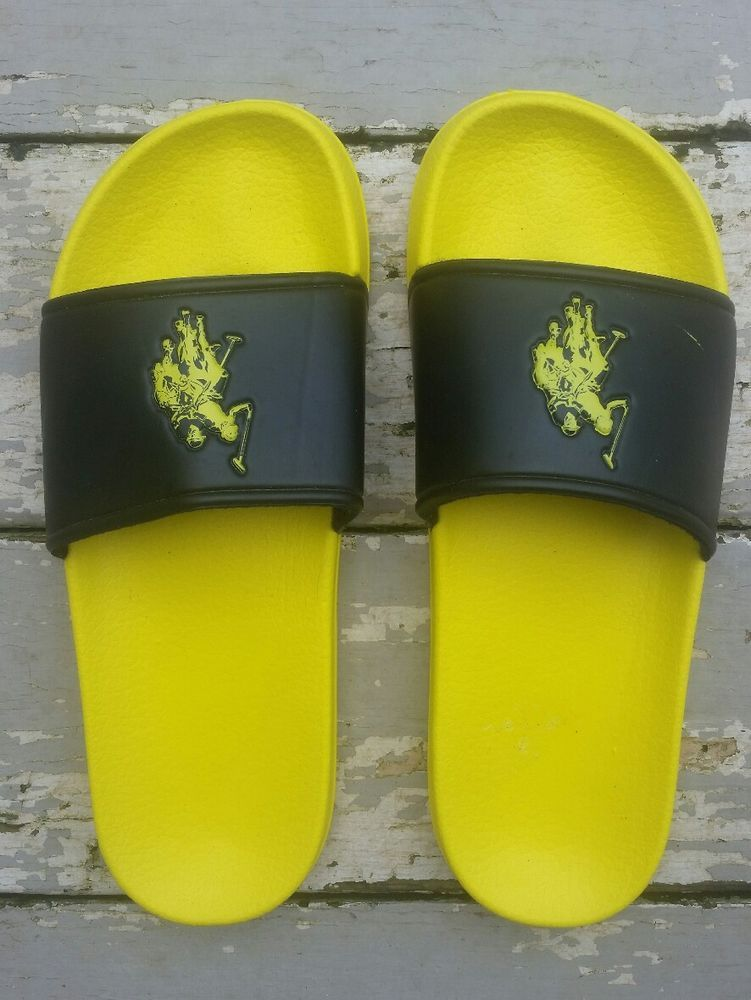 5bb26efc9a9e89 Us polo assn men premium foot-bed slide sandal flip flop comfort fit size  11 12  USPoloAssn  SandalsFlipFlops