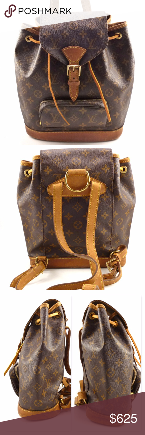 04aedd55554d Louis Vuitton Authentic Mini Montsouris Backpack Authentic Louis Vuitton  Mini Montsouris Monogram Canvas Backpack. Beautiful