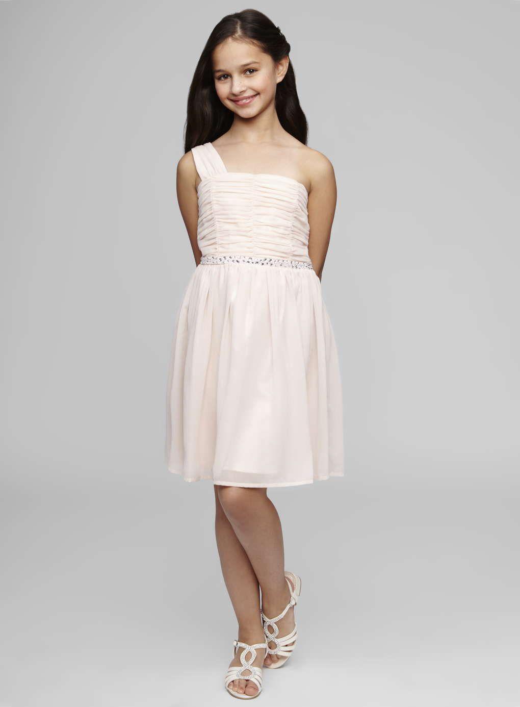 Teen Bridesmaid One Shoulder Blush Short Dress - BHS | Vickfest 2018 ...