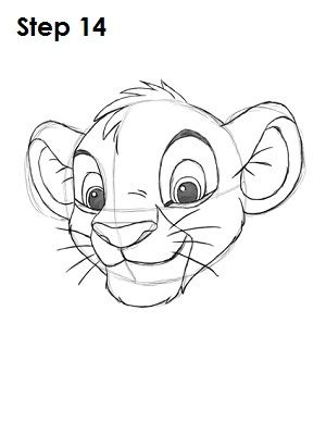 How To Draw Simba The Lion King 3 Drawings How To Draw Simba