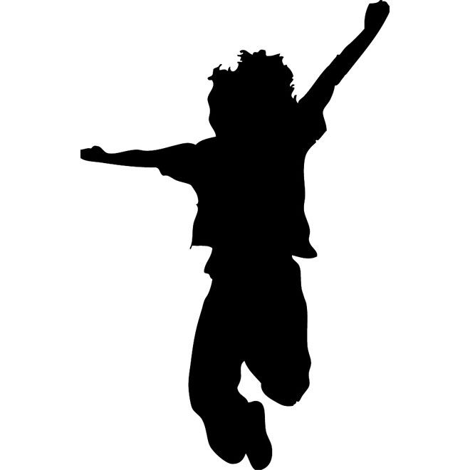 Nino Saltando Silhouette Drawing Silhouette Art Nursery Rhyme Art
