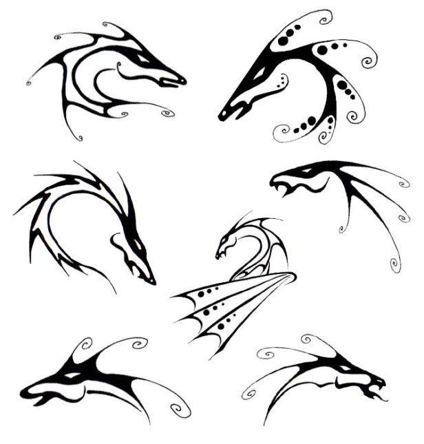 SciFi and Fantasy Art Black dragon tattoo designs by