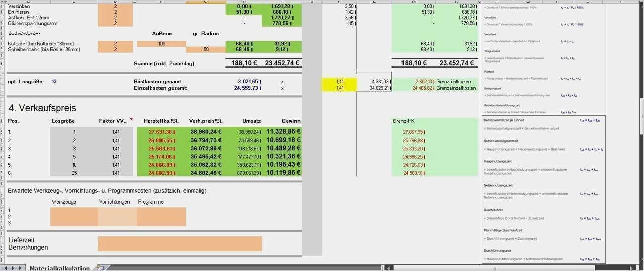 Ubersicht Baukosten Kostenaufstellung Mit