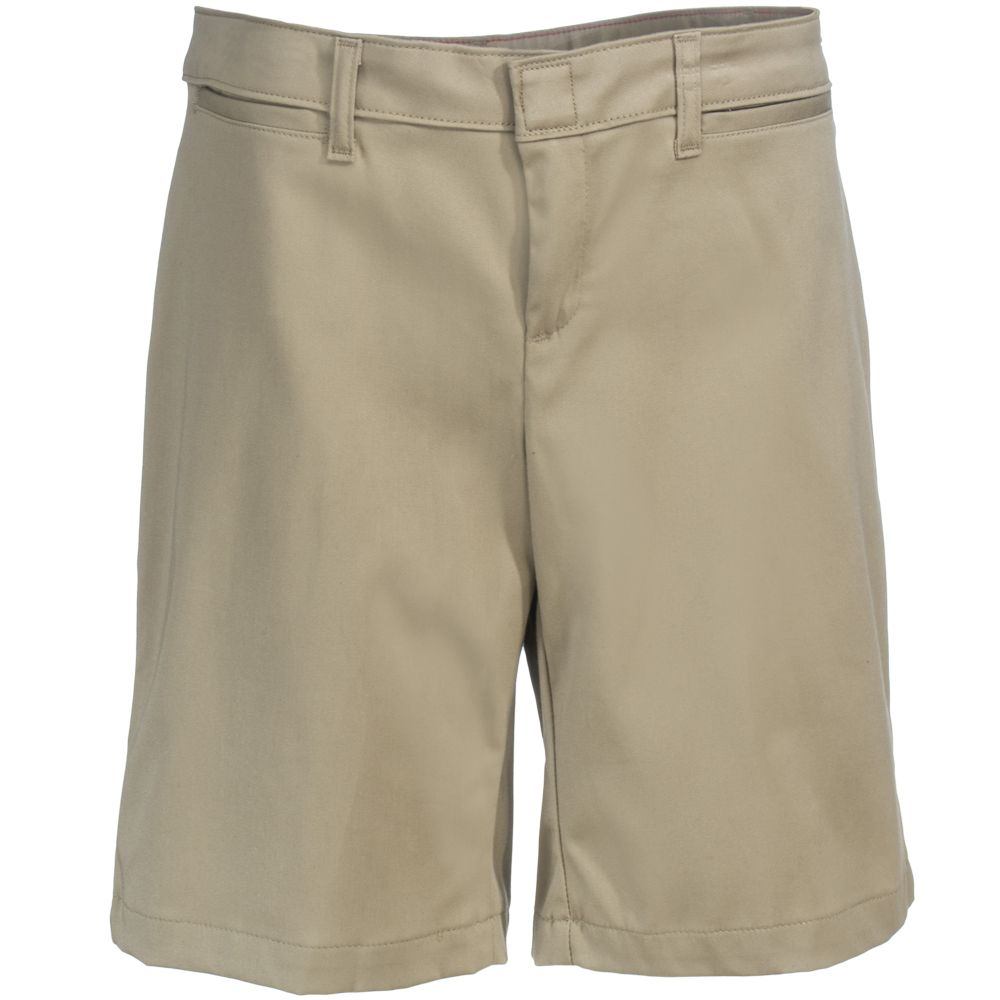 Dickies Shorts: Women's FR604 DS Tan Khaki 10-Inch Relaxed Fit ...