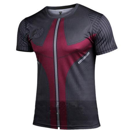 ae92fd59e DC Marvel Sport Fitness GYM TShirt Hawkeye Short Sleeve Shirt