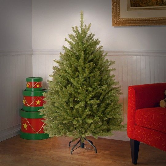 Pre Lit Christmas Trees At Costco: 4.5 Ft. Dunhill® Fir Full Artificial Christmas Tree