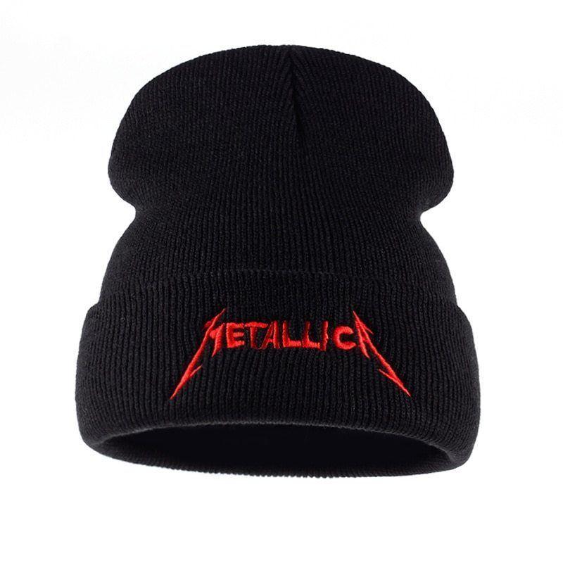 ec2d408411d VORON red cap band Metallica European and American Rock winter Street cap  hats  fashion