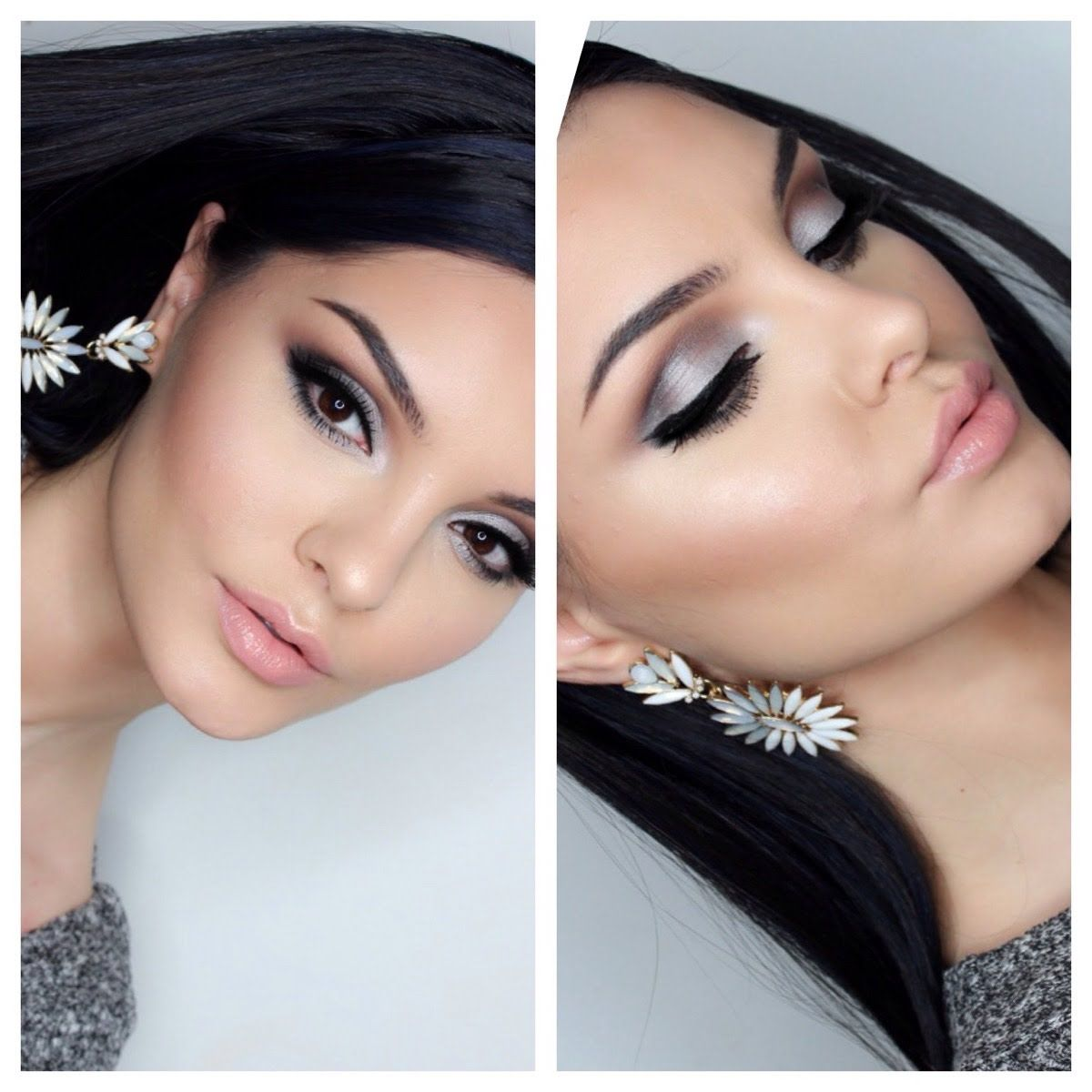 Prom makeup silver