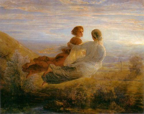 Poème de l'âme 16: Le Vol de l'âme - Louis Janmot - Romanticism, Symbolism