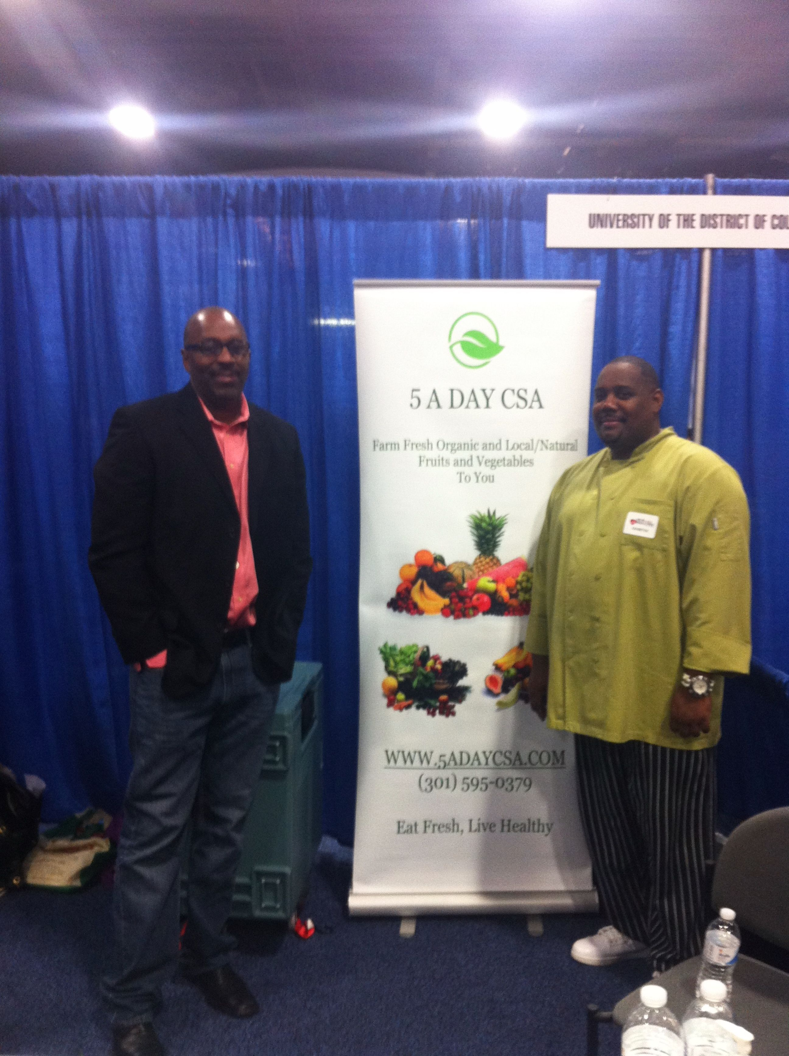 Chef herb and udc staff at the nbc wellness expo csa