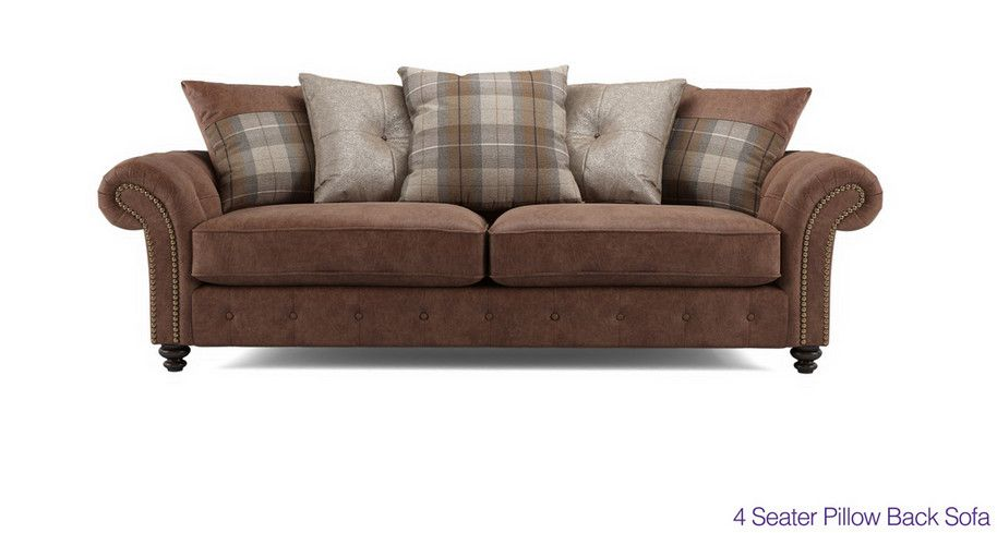 Oakland 4 Seater Pillow Back Sofa Dfs