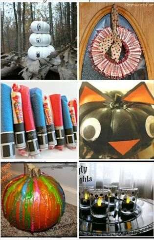 25 Halloween Crafts (Perfect for Kids, Parties, Decorations and more - halloween crafts decorations