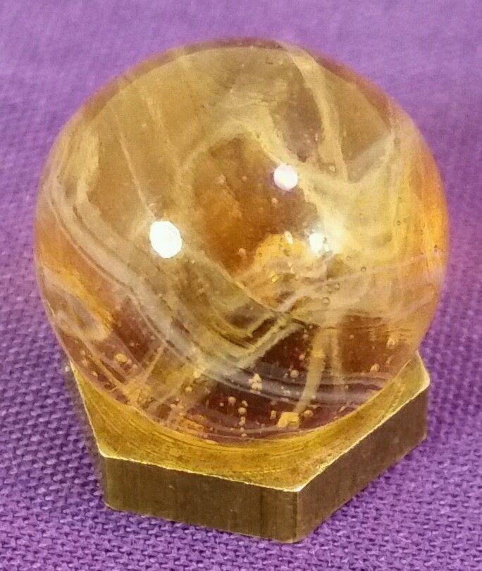 Rare Original Vintage Antique Peach Wirepull Marble