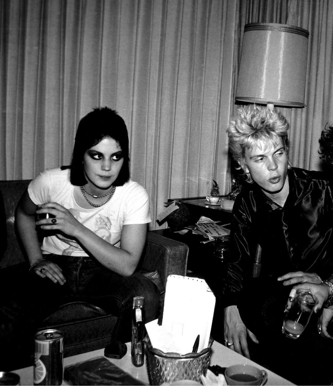 Joan Jett & Billy Idol photographed by Theresa Kereakes.