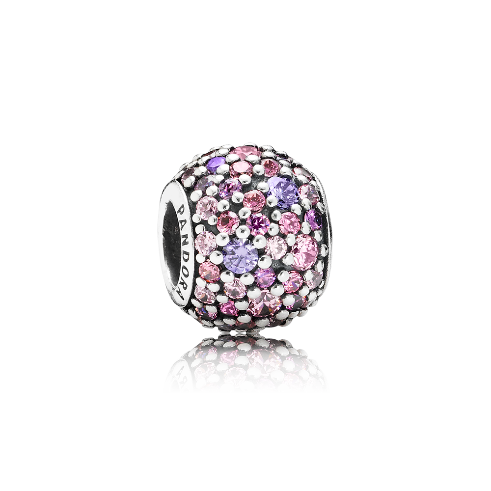 A new take on the popular pavé design the multihued charm gets