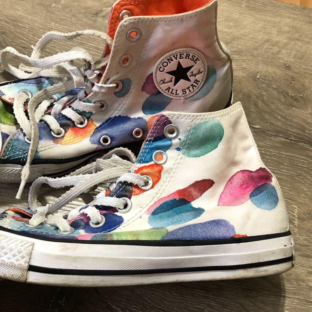 Splatter Painting My Converse