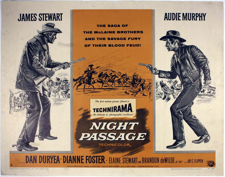 NIGHT PASSAGE (1957) - James Stewart - Audie Murphy - Dan Duryea ...