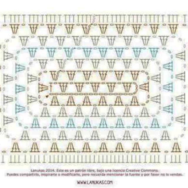 granny rectangular | crochet | Pinterest | Crochet, Crochet granny ...
