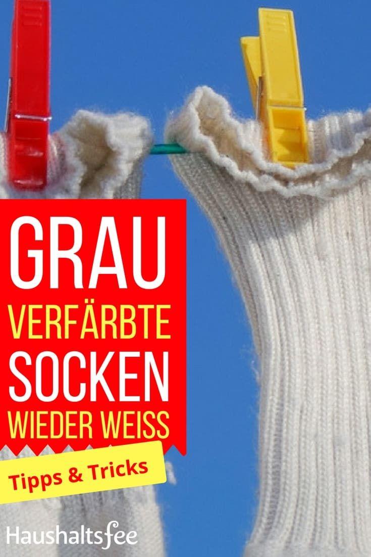 Weiße Socken wieder weiß bekommen ganz einfach