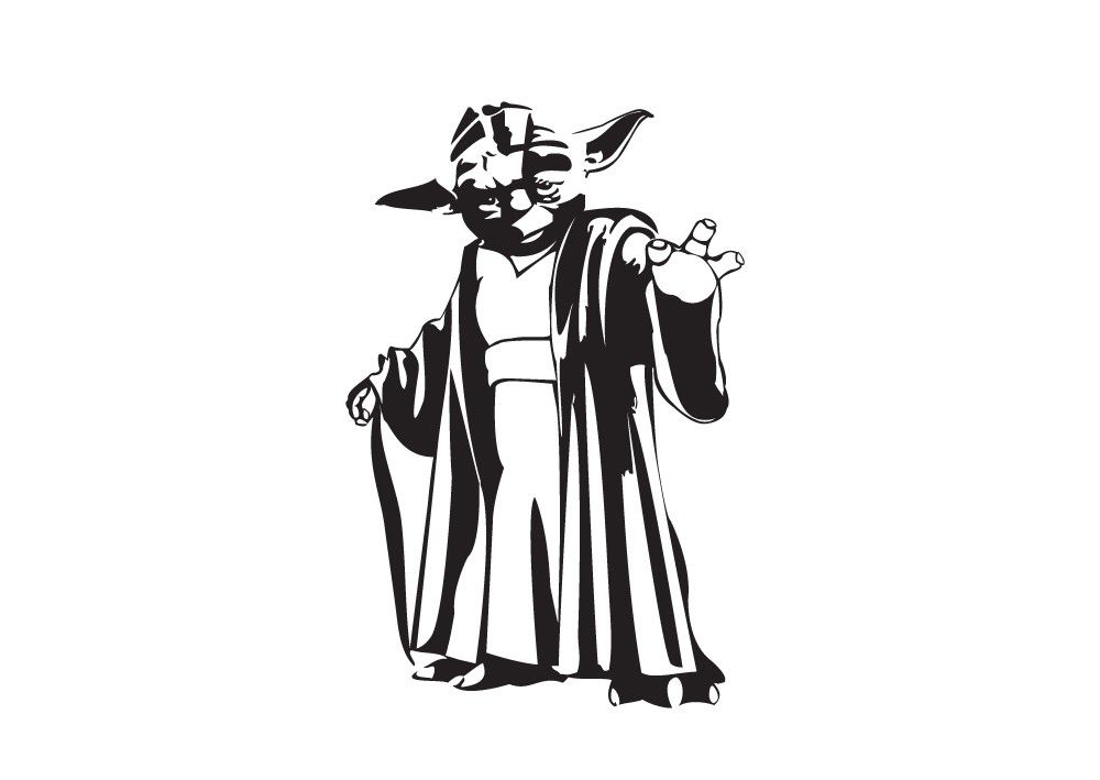 Line Drawing Yoda : Yoda vinyl decal google search star wars