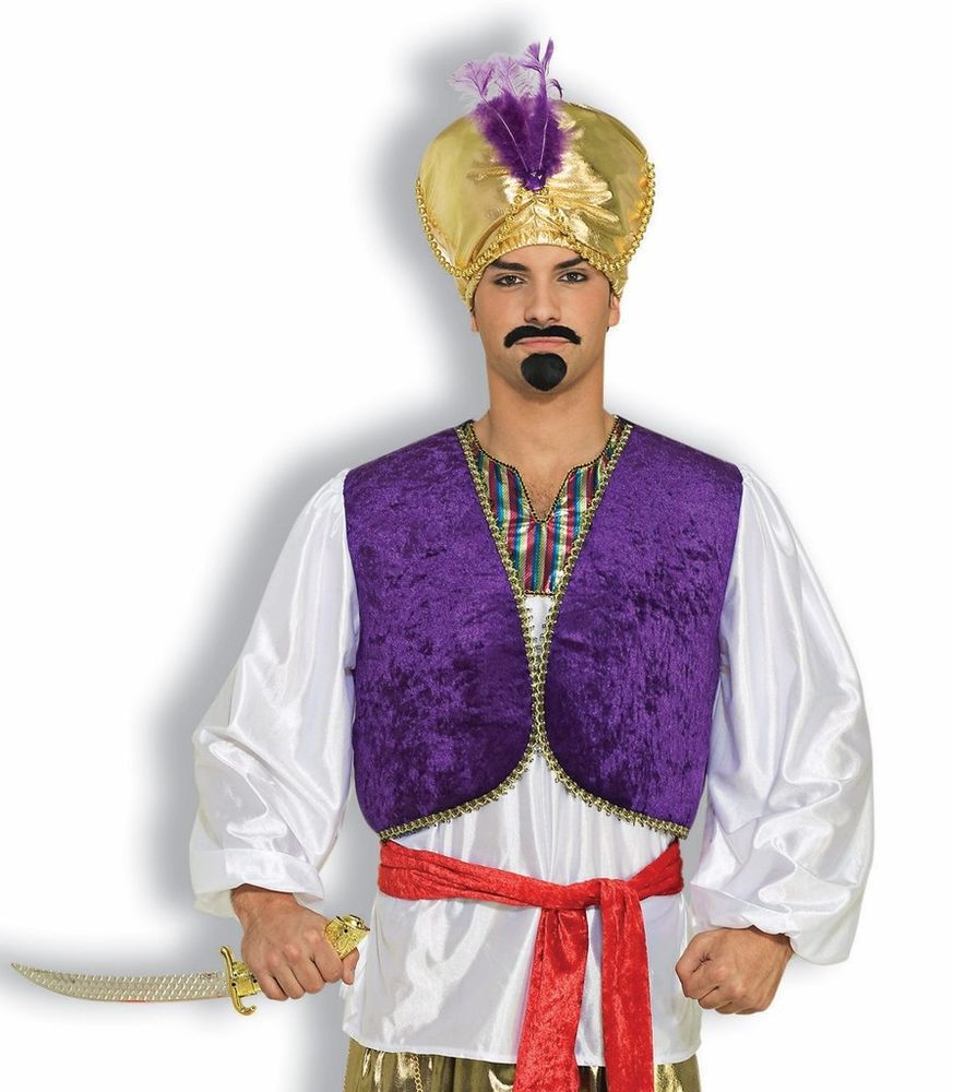 Desert Prince Shirt Vest Men Costume Accessories Sheik Genie Sultan Sinbad  Adult #FORUM #vestwithshirt