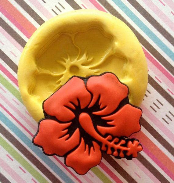 Hibiscus Flower Mold Kawaii Fondant Mold By Moldssweettreasure Flower Molding Fondant Molds Molding Clay