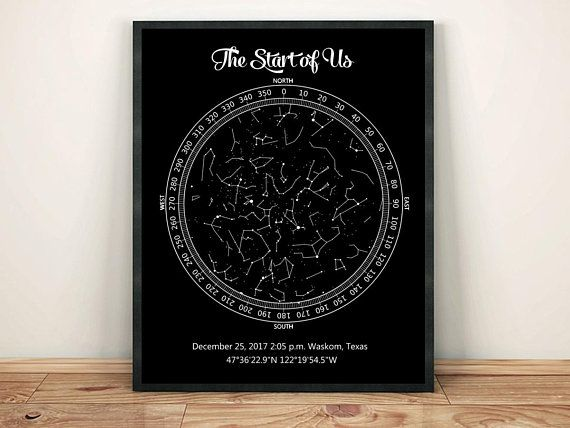custom star map printable night sky map