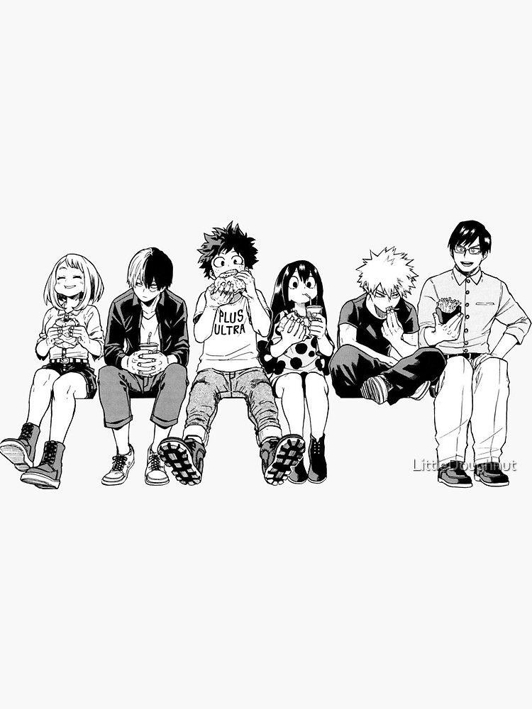 Bw Squad Sticker By Littledoughnut My Hero Academia Episodes Hero Wallpaper My Hero Academia Manga