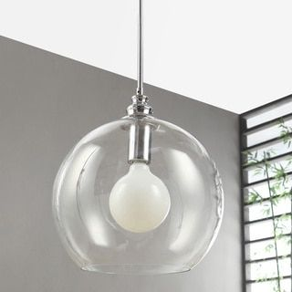 Overstock Pendant Lights Enchanting Top Product Reviews For Uptown Clear Globe 1Light Chrome Pendant 2018