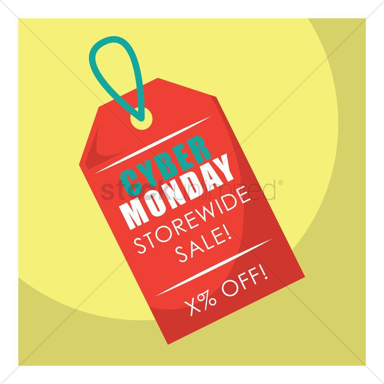 Cyber monday sale tag vectors stock clipart